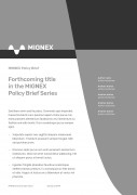Forthcoming Policy Brief Cover Page