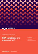 Cover image of MIGNEX Handbook Chapter 6 on QCA conditions and measurements
