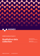 Cover image of MIGNEX Handbook Chapter 8: Qualitative data collection
