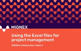 Slide reading 'Using the Excel files for project management'