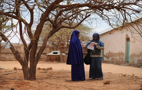 Health workers in Gedo region, Somalia