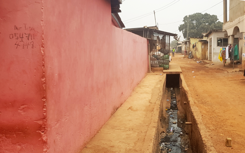 A street in the Madina Zongo, Ghana.